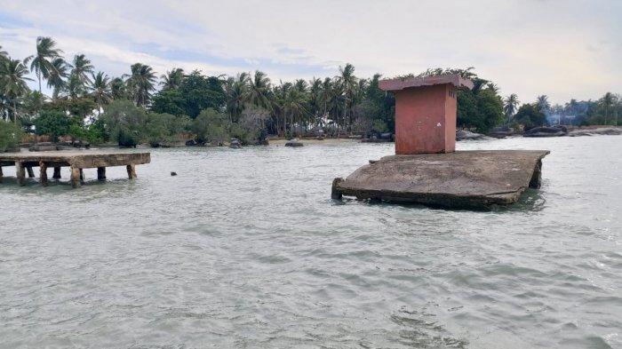 Pemdes Pulau Seliu Kumpulkan Sumbangan Perbaiki Dermaga Teluk Gembira yang Putus