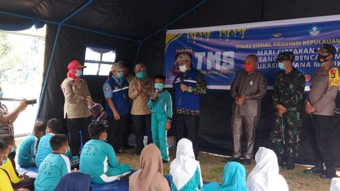 Gubernur Resmikan Kampung Siaga Bencana dan Tagana Masuk Sekolah di Sukamandi Belitung Timur