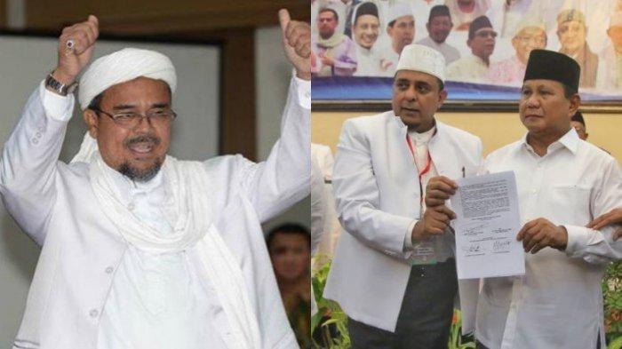 Prabowo Subianto Janji Pulangkan Habib Rizieq Shihab Jika Dirinya Menang dan Jadi Presiden