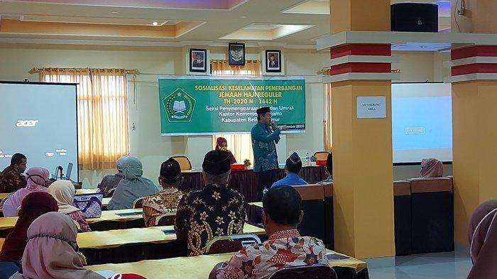 Calon Jemaah Haji Belitung Timur dapat Sosialisasi Keselamatan Penerbangan, Berangkat Juni 2021
