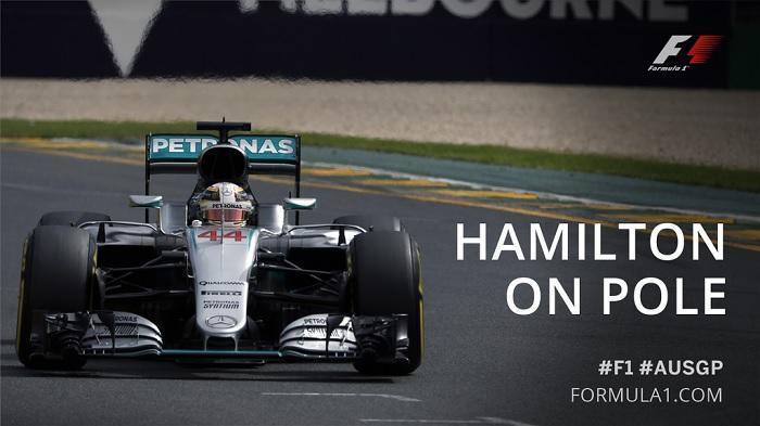 Hamilton Raih Pole Position di GP Melbourne