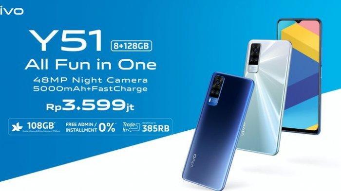 Vivo Y51 dijual dengan harga Rp 3,599 juta di Indonesia
