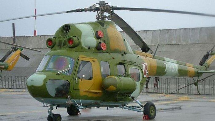 Helikopter Militer Ukraina Jatuh Usai Tabrak Kabel Listrik