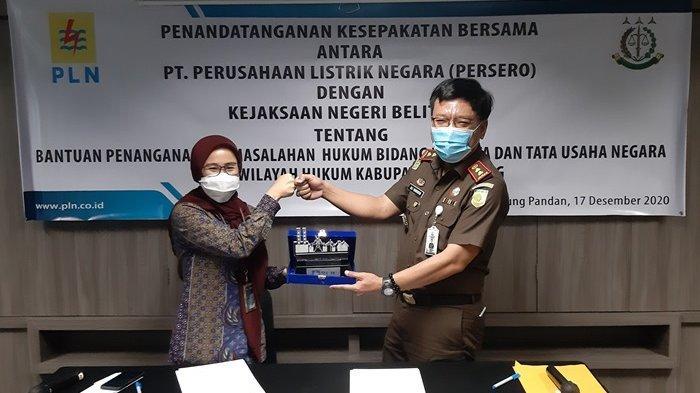 PLN UP3 Belitung Perpanjang Kesepakatan Kerja Sama dengan Kejari Tentang Datun