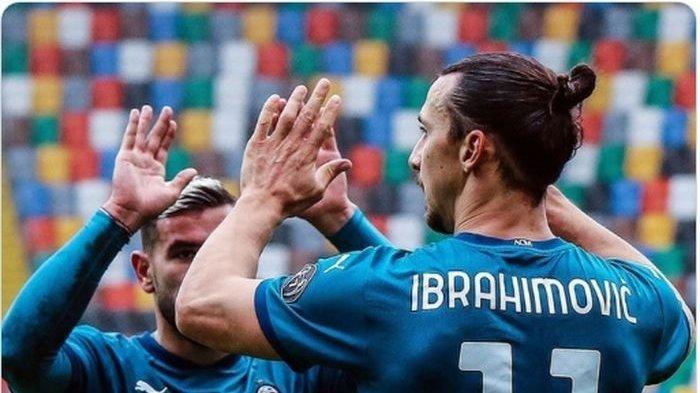 Hasil Liga Italia Udinese Vs AC Milan, Ibrahimovic Samai Rekornya Sendiri 8 Tahun Lalu