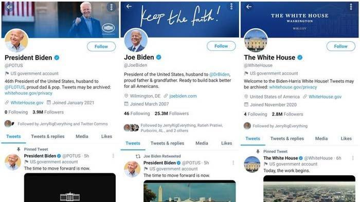 Twitter Reset Akun Resmi Presiden AS, @PresElectBiden Diganti Menjadi @POTUS