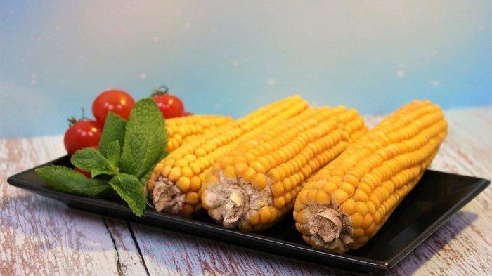 Ilustrasi jagung rebus