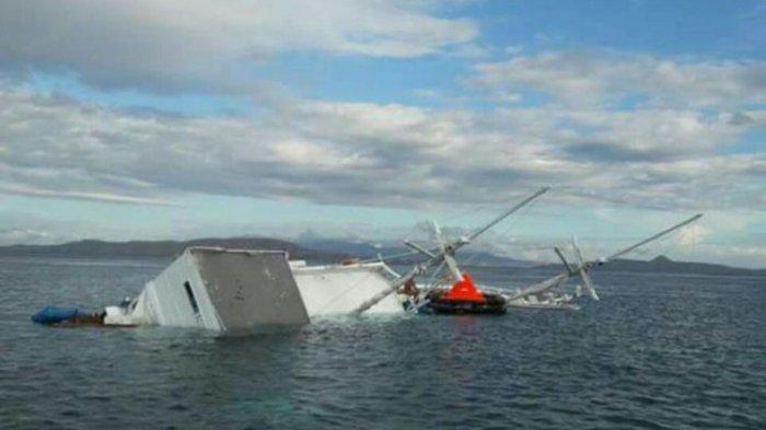 Ilustrasi kapal tenggelam di kepulauan seribu