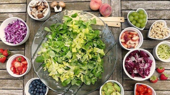 Ilustrasi sayuran berdaun hijau