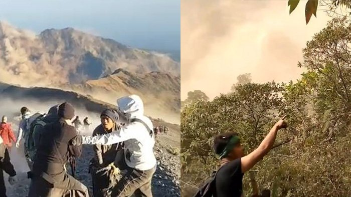 Suasana Mencekam di Gunung Rinjani Saat Terjadi Gempa di Lombok, Buktinya 5 Video Pendaki ini