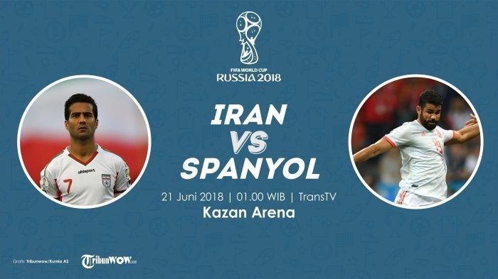 Jadwal Siaran Langsung Piala Dunia Malam Ini! Iran Vs Spanyol, De Gea Jadi Sorotan, Bakal Dimainkan?