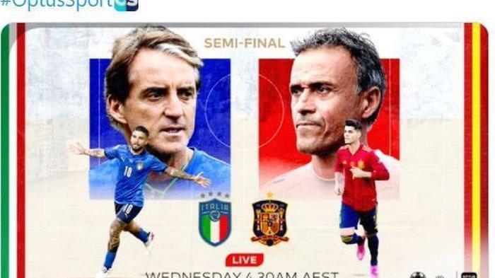 Duel Italia vs Spanyol di Semifinal EURO 2020, Italia Andalkan Kekompakan, Spanyol Belum Maksimal