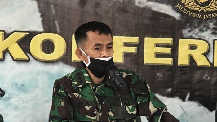 Mantan Dansatsel Koarmada II Kolonel Laut (P) Iwa Kartiwa dalam konferensi pers di RS AL Mintoharjo Jakarta, Selasa (4/5/2021).