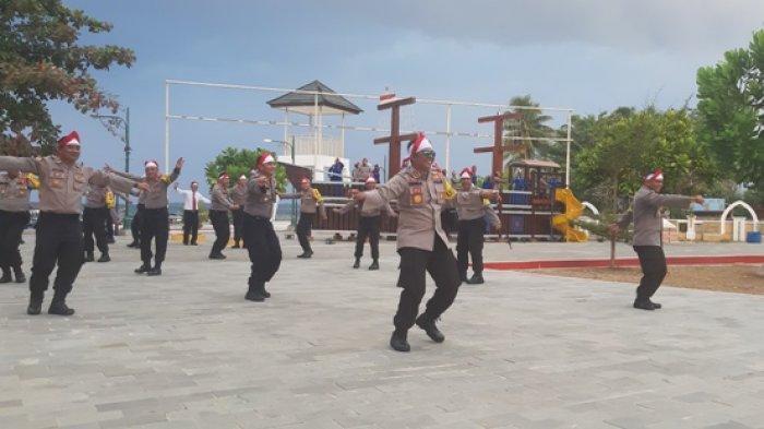 Personel Polres Belitung Bedincak di Pendopo Tanjung Kelayang