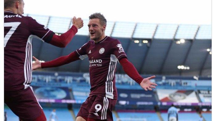 Hasil Liga Inggris Man City Vs Leicester, Hattrick Jamie Vardy Permalukan The Citizens 2-5