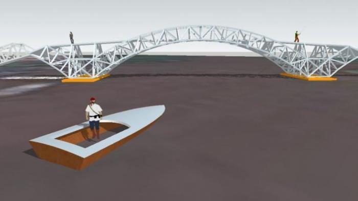 WOW! Indonesia Akan Bangun Jembatan Apung Pertama di Cilacap