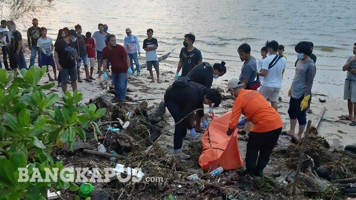 Saat Hendak Bakar Ikan, Warga Sungai Samak Temukan Mayat Membusuk di Tumpukan Sampah Tepi Pantai
