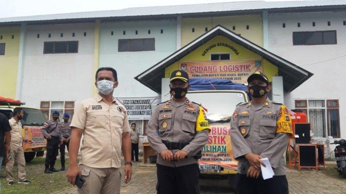 100 Personil Polres Beltim Kawal Pergeseran Logistik Pilkada 2020