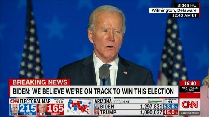 Makin Dekat Jadi Presiden Amerika Serikat,  Electoral Vote Joe Biden Unggul Jauh dari Donald Trump