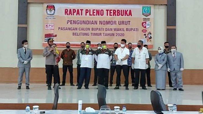 Polres Belitung Timur Serahkan 8 Pengawal Pribadi Pada Dua Pasang Calon Kepala Daerah