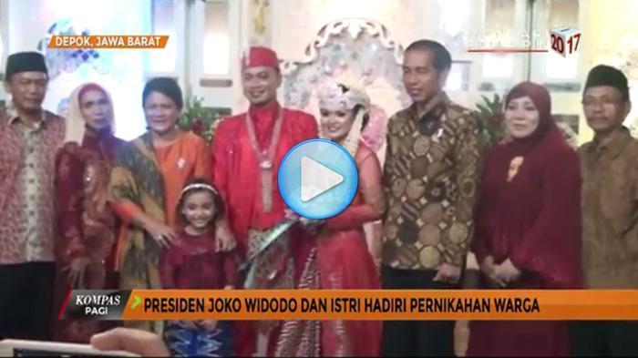 Presiden Jokowi Penuhi Undangan Mempelai Pegawai Biasa di Istana