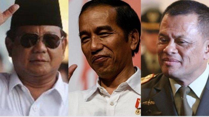 Elektabilitas Jokowi Naik, Prabowo Justru Anjlok, Gatot Merangsek ke Urutan Tiga