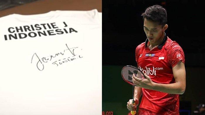 Kaus Jonatan Christie Laku Rp 400 Juta, Hasilnya Disumbangkan Untuk Korban Gempa Lombok