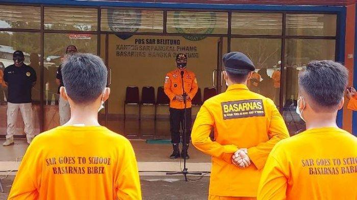 Pelajar di Beltim Belajar Bertahan Hidup, Latihan dari Basarnas Belitung Lewat 'SAR Goes to School'
