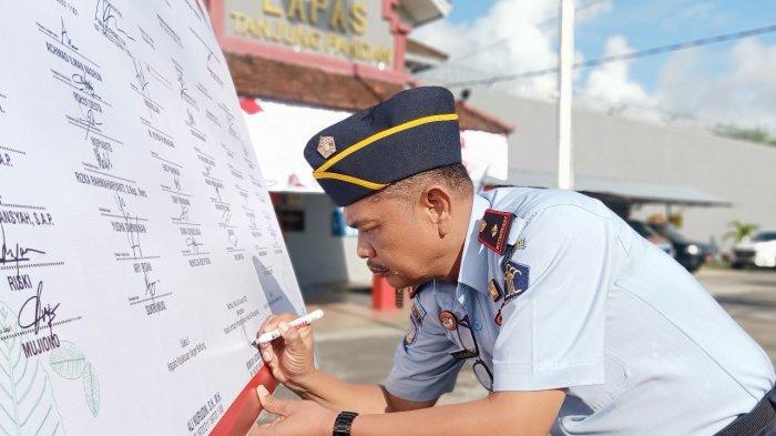 Deklarasi Kinerja 2020, Kalapas Tanjungpandan Targetkan WBK WBBM