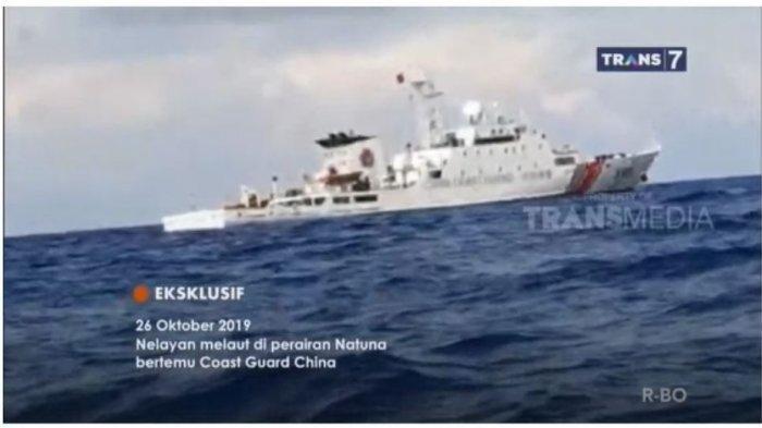 Lagi Kapal China Konvoi dan Tebar Jaring di Natuna, Kapal Perang RI ini Kembali Lakukan Pengusiran