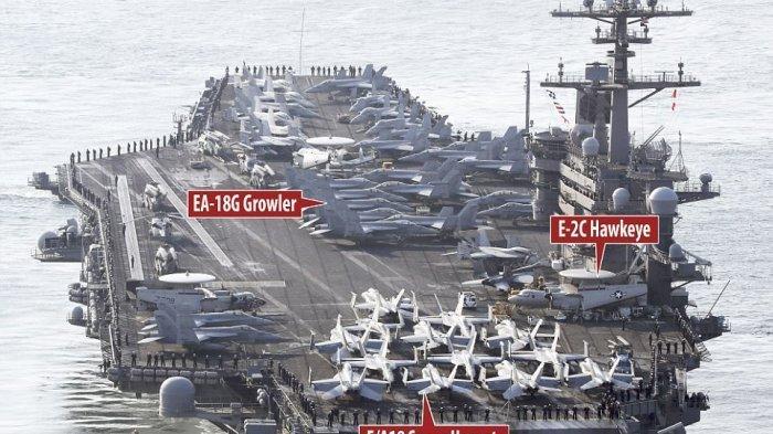 Memanas Lagi, AS Kerahkan 3 Kapal Induk ke Perbatasan China, Rudal Penghancur Kapal Induk Disiapkan