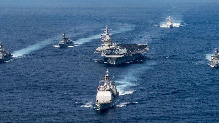 Laut China Selatan Memanas Ada Peluang Saling Lepas Tembakan, AS Kirim 2 Kapal Induk
