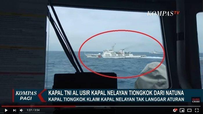 Beginilah Reaksi Kapal China saat Diminta Keluar dari Perairan Natuna oleh TNI AL, Masih Ngotot?