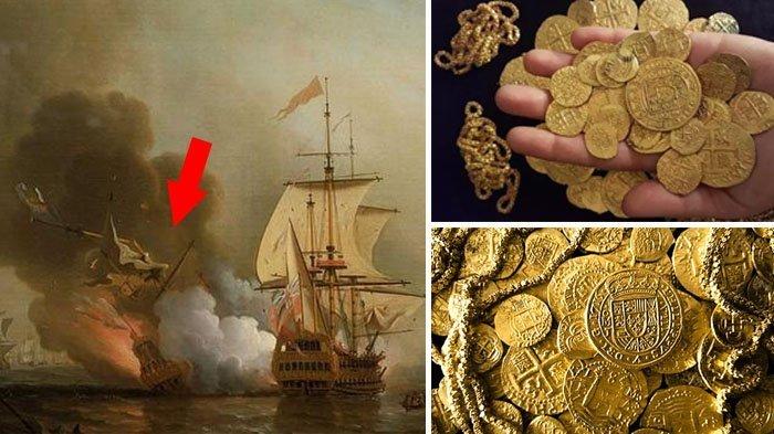Puing Kapal Spanyol di Laut Karibia Ditemukan Tapi Belum Diumumkan, Simpan Harta Karun Rp 239 T