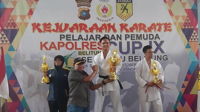 Tim Polres Belitung Sabet Juara Umum Kejuaraan Karate Do Kapolres Cup IX