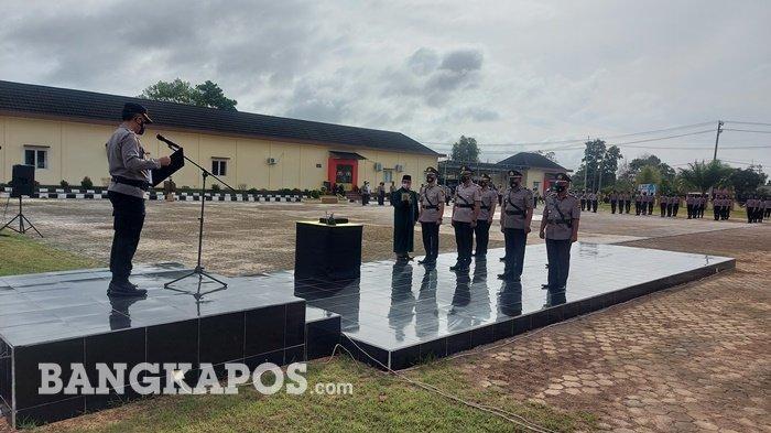 Kapolres Belitung Timur Lantik Empat Perwira Baru