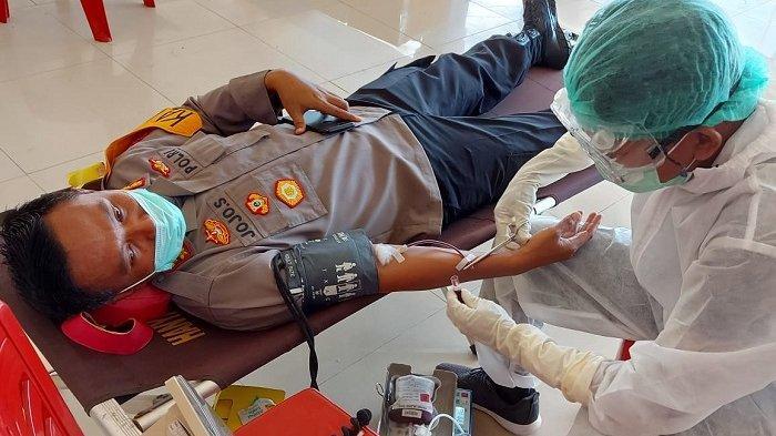 Jaga Ketersediaan Stok Darah, Polres Belitung Timur Gelar Donor Darah