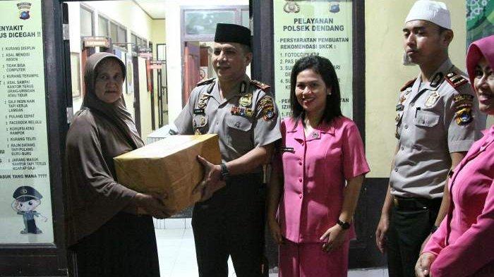 Lakukan Safari Ramadan dan Kunjungan Kerja ke Polsek Dendang, Kapolres Belitung Letakan Batu Pertama