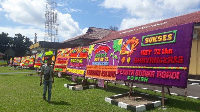 Hut Bhayangkara Mapolres Belitung Panen Karangan Bunga Pos Belitung