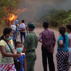 Kebakaran Bukit Maras Meluas, Warga Diungsikan