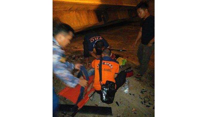 Korban Mobil Jatuh di Bawah Jembatan Emas Babel, Satu Pria & Tiga Wanita, Dua Diantaranya Meninggal
