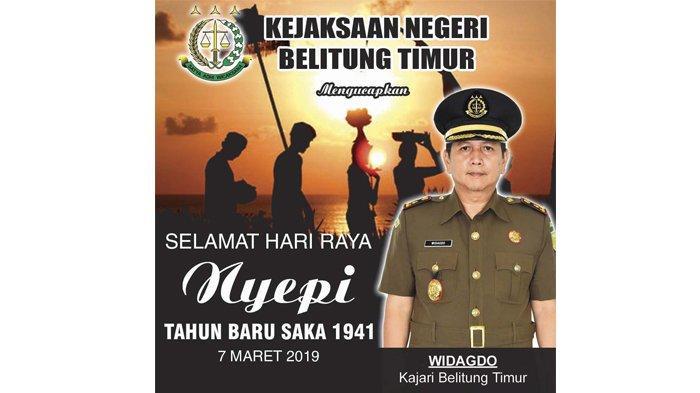 Kejaksaan Negeri Belitung Timur Mengucapkan Selamat Hari Raya Nyepi