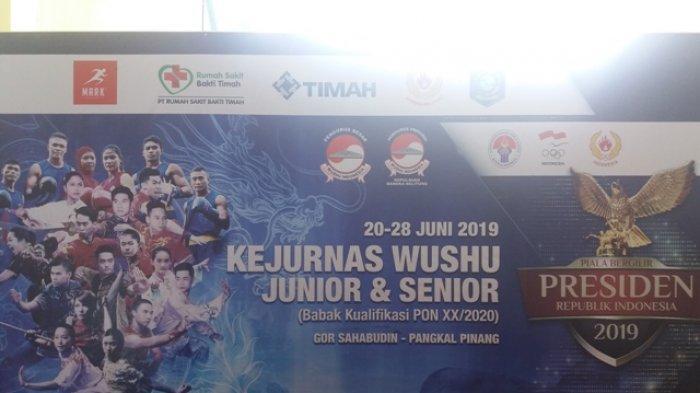Babel Raih Eman Medali di Kejuaraan Wushu Tingkat Nasional, Hanya Satu Atlet Lolos PON 2020