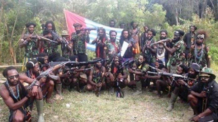Kelompok Kriminal Bersenjata (KKB) Organisasi Papua Merdeka (OPM) di Papua.