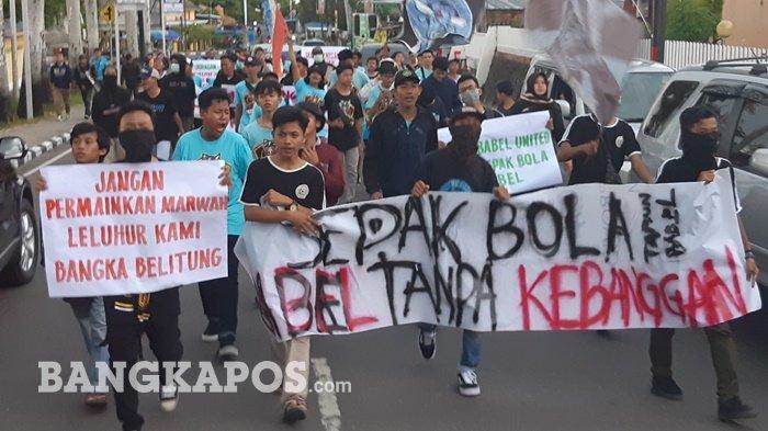 Babel United Mau Pindah ke Muba Sumsel, Kelompok Suporter Gelar Aksi: Mereka Seperti Jailangkung