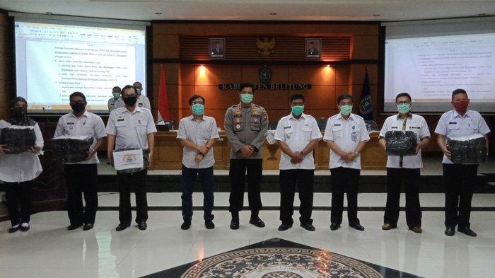 Bupati Belitung Sahani Saleh Imbau Masyarakat yang Keluar Rumah Wajib Gunakan Masker