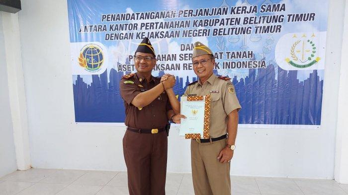 Setelah 16 Tahun Berdiri, Kejari Belitung Timur Akhirnya Miliki Sertifikat Tanah Kantornya