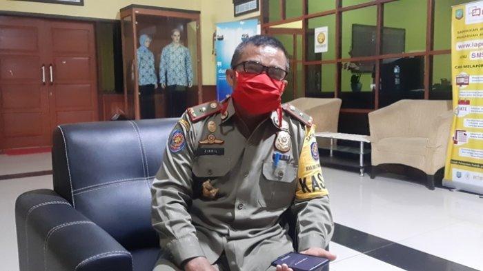 Satpol PP Belitung Timur Imbau Pembeli dan Penjual Takjil Taat Protokol Kesehatan