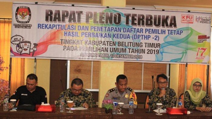 KPU Beltim Tetapkan 86.722 Pemilih Dalam DPTHP-2
