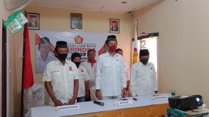 Prabowo Kembali Terpilh Sebagai Ketua Umum, DPC Gerindra Belitung Ikuti Kongres Luar Biasa Daring